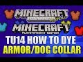 "Minecraft Xbox 360 & PS3: ""Title Update 14"" How To Dye Armor/Dog Collars Simple Guide (TUTORIAL)"