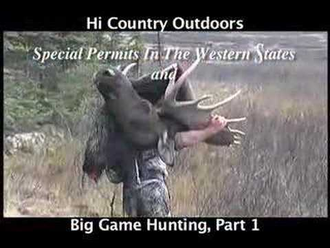 Hunting footage of Grizzly Moose Sheep Cape Buffalo and Info. on
