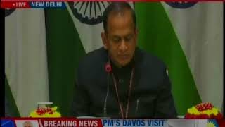 New Delhi: MEA Secy briefs media on PM's upcoming Davos visit - NEWSXLIVE