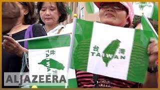 🇹🇼 Thousands march to support independence vote in Taiwan | Al Jazeera English - ALJAZEERAENGLISH