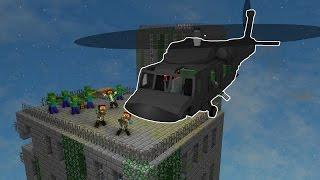 УЛЕТЕЛИ ИЗ ЗОМБИ ГОРОДА НА ВЕРТОЛЁТЕ [Minecraft] | ВЫЖИТЬ В ЗОМБИ АПОКАЛИПСИСЕ #ФИНАЛ