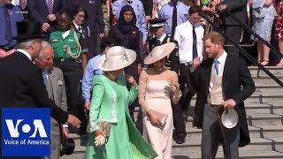 Meghan Markle, Prince Harry on first royal engagement since wedding - VOAVIDEO