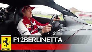 بالفيديو: كيمي رايكونين يقود سيارة فيراري F12 بعنف على حلبة فيورانو