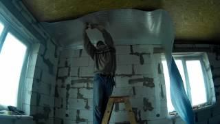 Подготовка комнаты для проживания на выходных  Полы, потолок, стены