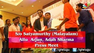 Allu Arjun and Adah Sharma @ Son of Satyamurthy Press Meet Kerala - IGTELUGU