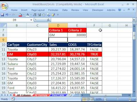 Highline Excel Class 19: Advanced Filter Extract Data 9 Examples