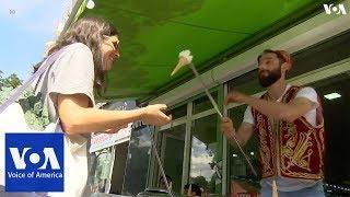 Show segment with Turkish ice cream man - VOAVIDEO