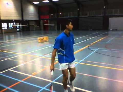 Badminton Trick shots by Luxembourg