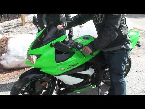 Rider CRASHED his KAWASAKI NINJA 250R