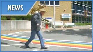 Man filmed 'SPITTING' on Gay Pride crosswalk in Newfoundland - THESUNNEWSPAPER