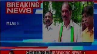 High drama outside Puducherry assembly; 3 MLAs threaten to jump over the gate - NEWSXLIVE