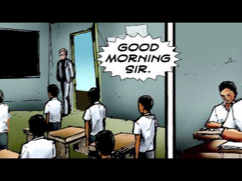 MANDELA IN COMICS. A film in four parts of Nelson Mandela's life has been created as a resource for young people around the world. Starting with CHILDHOOD.