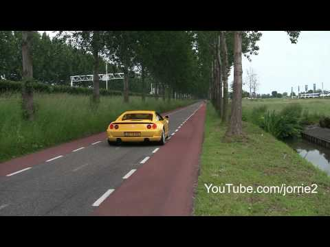 Exotic cars accelerating! Spyker C8 Spyder Challenge Stradale Scuderia SLS AMG BMW M5 Audi S5 CC8S