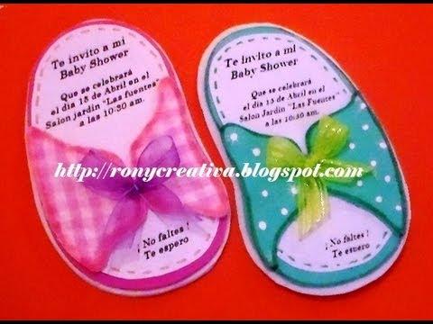 Invitacion Chanclita Para Babyshower / Huarachito Babyshower Diy ...