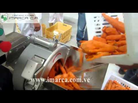 IMARCA Cubicadora de Vegetales Cubeteadora automatica de Vegetales (zanahoria). Vegatble dicer