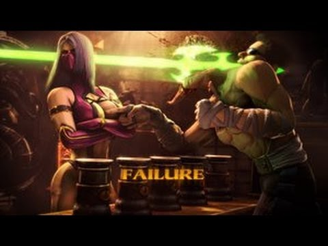 Mortal Kombat 9 Test Your Sight Failure **Failure / Consequence On All Challenges** (HD)