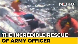 Video Of Abhilash Tomy's Precarious Rescue, Injured And Stranded At Sea - NDTV