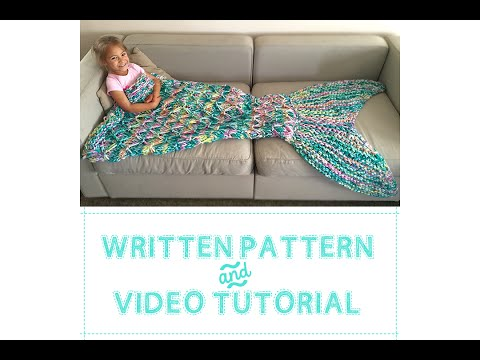 KNITTED MERMAID BLANKET and introducing my SHOP!