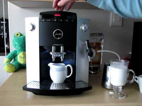Making a caff latte with a Jura Impressa F50