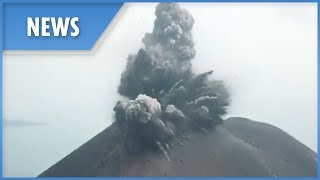 Aerial footage shows explosive Anak Krakatau eruption - THESUNNEWSPAPER
