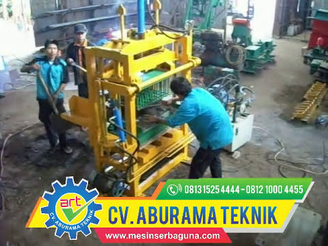 02  Mesin Pencetak Batako   Sistem Press Hidrolik & Getar 0813 1525 4444 -- 0812 1000 4455