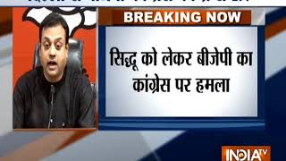 Delhi: BJP Spokesperson Sambit Patra addresses press conference on Navjot Singh Sidhu - INDIATV