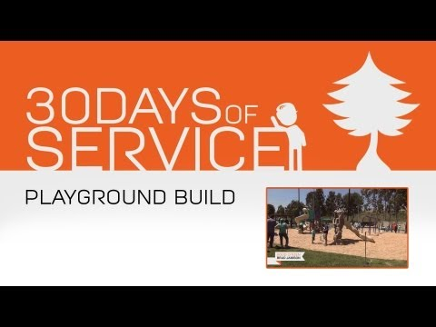30 Days of Service by Brad Jamison: Day 28 - Playground Build