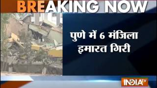 6 Floors Building Collapse in Pune, 4 Stuck in Ruins - INDIATV