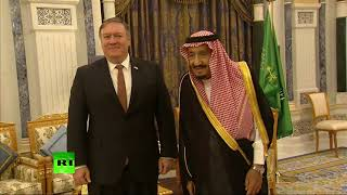 RAW: Pompeo meets King Salman in Saudi Arabia - RUSSIATODAY