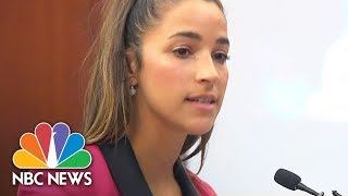 USA Olympic Gold Medalist Aly Raisman To Larry Nassar: 'You Are Nothing' | NBC News - NBCNEWS
