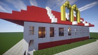Майнкрафт: Как построить МАКДОНАЛЬДС (McDonalds Minecraft)