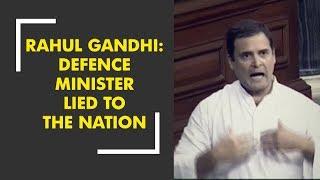 Rahul Gandhi: Defence Minister Nirmala Sitharaman has lied to the nation - ZEENEWS