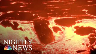 Fiery Kilauea Volcano Continues To Spout Lava On Hawai'i | NBC Nightly News - NBCNEWS