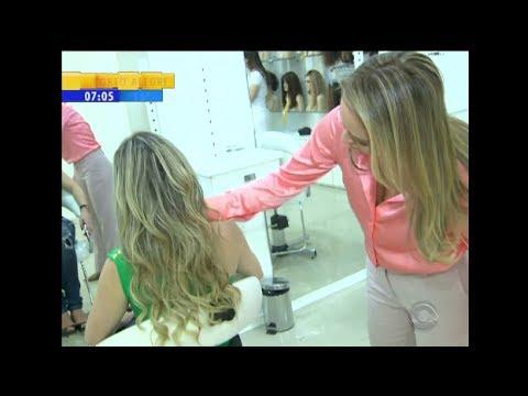 Mega Hair Porto Alegre RBS TV mostra método sem o uso de cola indicado, por Dermatologistas.