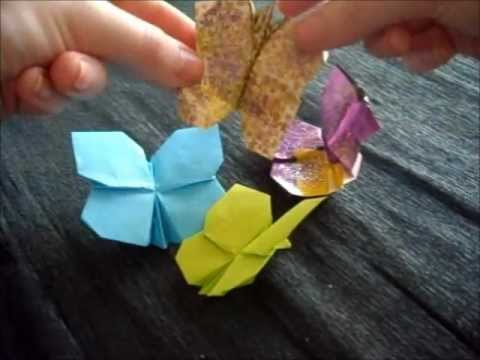 mariposa facil - origami easy butterfly by Estel
