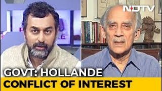 """Hollande Claim Latest In Chain Of Events That Point To Feku Government"": Arun Shourie - NDTV"