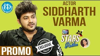 Actor Siddharath Varma Exclusive Interview - Promo || Soap Stars With Anitha #30 - IDREAMMOVIES
