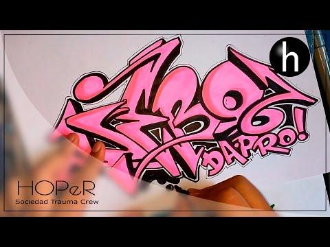 graffiti drawings on paper