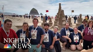 Sandcastle Building Contest Brings Out The Kid In Everyone | NBC Nightly News - NBCNEWS