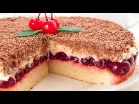 вишневый бисквит рецепт с фото