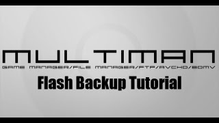 How to Backup Flash in multiMAN [Tutorial]