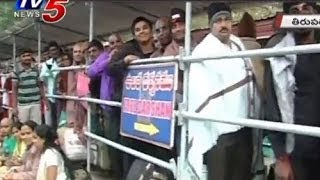 Huge rush of Devotees at Thirumala - TV5NEWSCHANNEL
