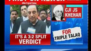 Subramanian Swamy speaks to NewsX exclusively on No Triple Talaq - NEWSXLIVE