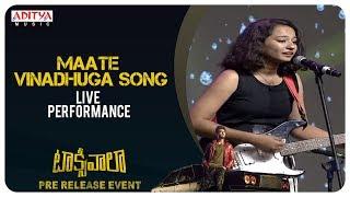 Maate Vinadhuga Song Live Performance @ Taxiwaala Pre-Release EVENT Live || Vijay Deverakonda - ADITYAMUSIC