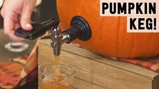 How to Make a Pumpkin Keg with Bourbon-Apple Punch | Food Network - FOODNETWORKTV