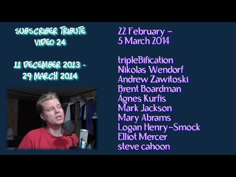 jimlapbap's Subscribers Tribute Song 24 (11 December 2013 - 29 March 2014)