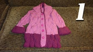 Как связать пальто для девочки спицами