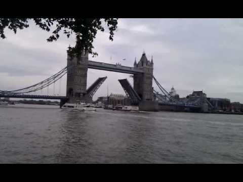 The partition of London Tower Bridge - A rare view
