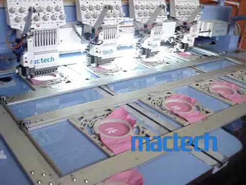 MACTECH Máquina de bordar 4 cabeças 12 agulhas troca rápida