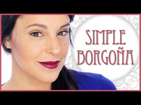 Tutorial maquillaje simple Borgoña | Silvia Quiros